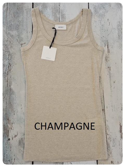 vicolo canotta lurex champagne