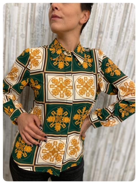 Susymix Camicia Barocca Verde Dettaglio