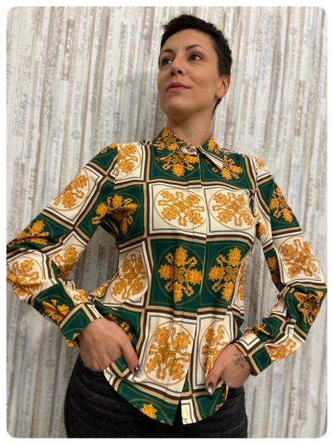 Susy Mix Camicia Barocca Verde